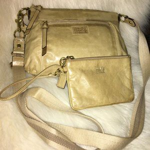 "COACH ""Vintage"" POPPY Leather  XBody & Wristlet"